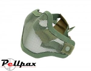Swiss Arms Half Mesh Tactical Mask: Olive Green / Tan / Skull