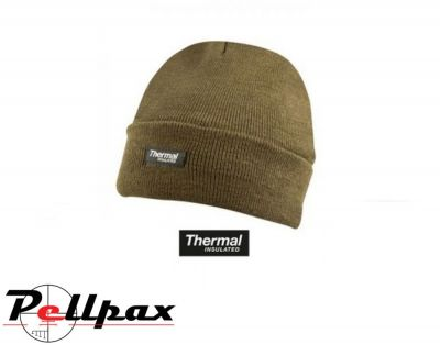 Kombat UK Thermal Bob Beanie Hat: Olive Green / Black