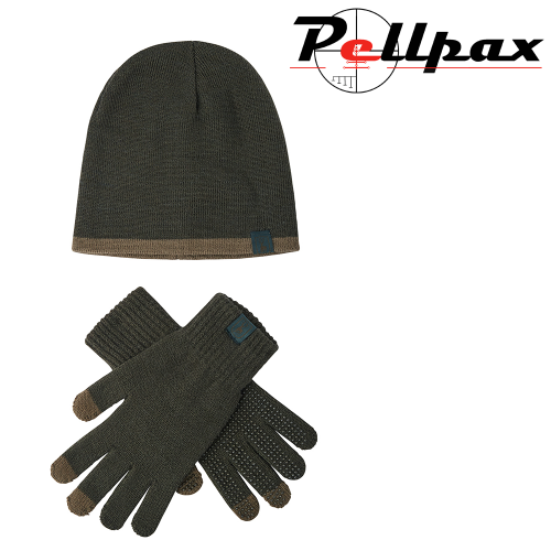 Hat and Gloves Set in Graphite Green by Deerhunter