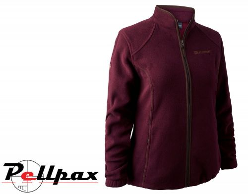 Lady Josephine Fleece Jacket in Burgundy by Deerhunter