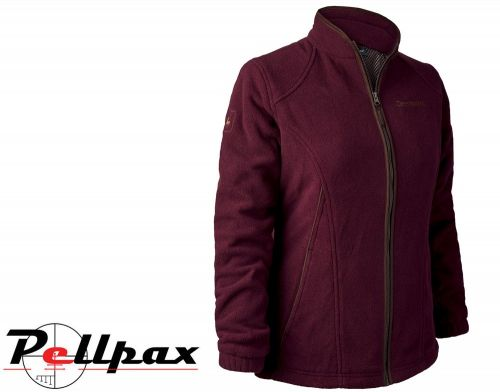 Lady Josephine Fleece Jacket w/Membrane in Burgundy by Deerhunter