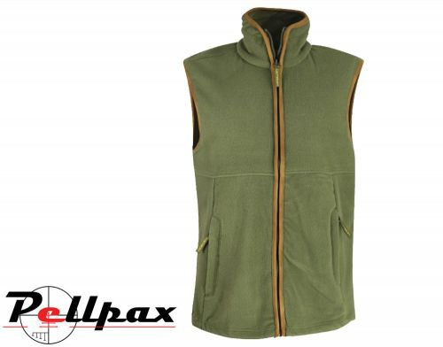 Kids Green Country Fleece Gilet By Huntsbury