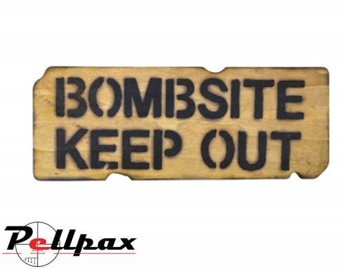 Kombat UK Bombsite Keep Out Sign