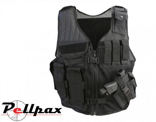 Kombat UK Cross Draw Tac-Vest - Black