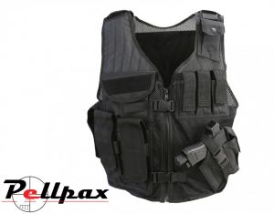 Kombat UK Cross Draw Tac-Vest - Black