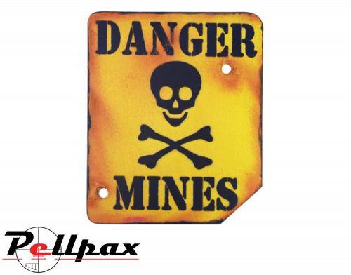 Kombat UK Danger Mines Sign