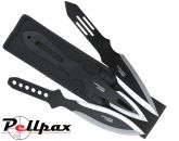 Kombat UK Deluxe Triple Throwing Knife Set