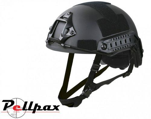 Kombat UK Fast Airsoft Helmet: Black / BTP / Coyote / Olive Green