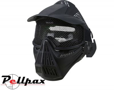 Kombat UK Full Face Mesh Airsoft Mask: Black / Coyote / Olive Green