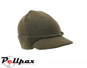 Kombat UK Military Jeep Hat: Olive Green / Black