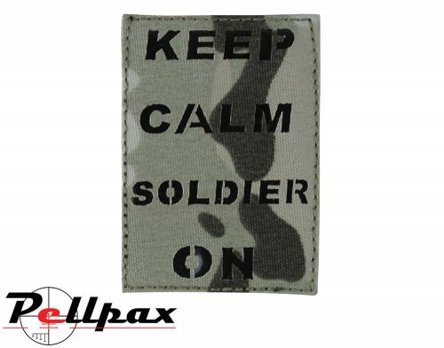 Kombat UK Keep Calm Soldier On Laser Patch