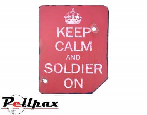 Kombat UK Keep Calm & Soldier On Sign