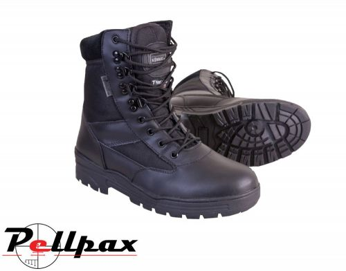 Kombat UK Half Leather/ Half Nylon Patrol Boot - Black (3-13)