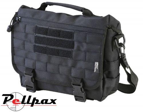 Kombat UK MOLLE Messenger Bag - 10L: Black / BTP / Coyote / Olive Green.