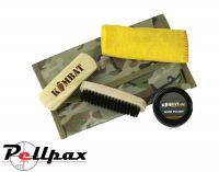 Kombat UK BTP Military Boot Care Kit with Black or Brown Polish