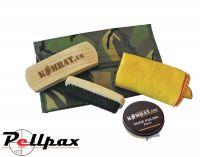 Kombat UK DPM Military Boot Care Kit with Black / Brown Boot Polish