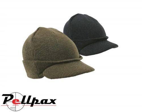 Kombat UK Military Jeep Hat - Olive Green / Black