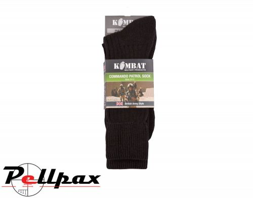 Kombat UK Military Army Patrol Socks - Black
