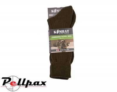 Kombat UK Army Style Military Patrol Socks - Olive Green