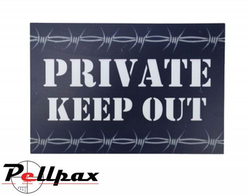 Kombat UK Private Keep Out Sign