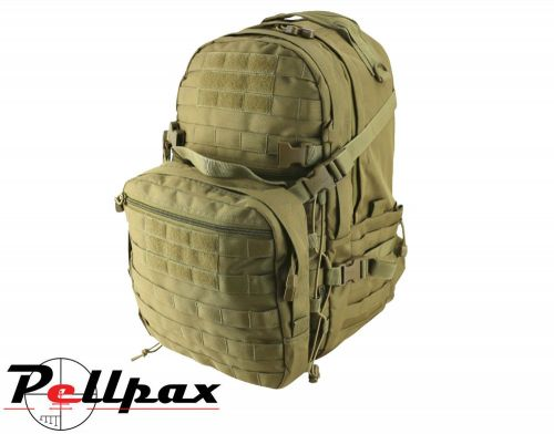 Kombat UK Recon Army Tactical MOLLE Backpack 50L: Black / Coyote / Olive Green / Green