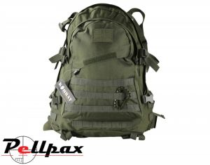 Kombat UK Spec-Ops Military Tactical MOLLE Pack 45: Black / BTP / Coyote / Green