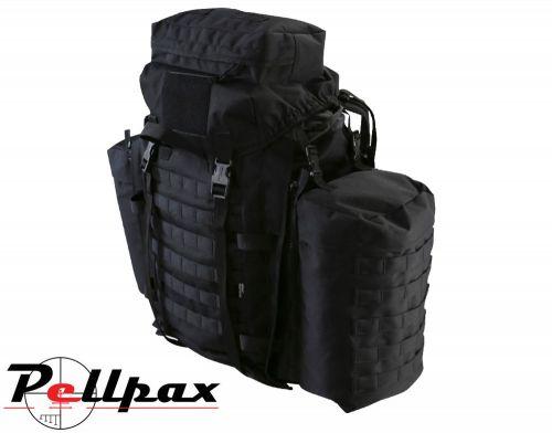 Kombat UK Tactical Army MOLLE Assault Pack 90L: Black / BTP / Green