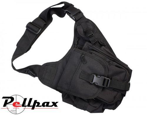 Military Tactical 7 Litre Shoulder Bag: Black / Olive Green / Coyote / DPM / BTP.