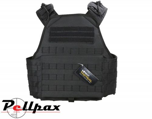 Kombat UK Viking Molle Battle Platform Assault Vest: Black / Coyote