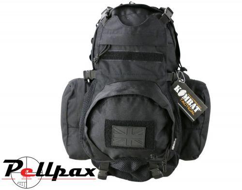 Kombat UK Vulcan Airsoft Combat Helmet Backpack 22L: Black / BTM / Coyote