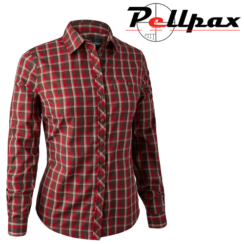 Lady Chloe Shirt in Red Check by Deerhunter