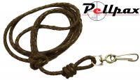 Bisley Plaited Leather Lanyard - Brown