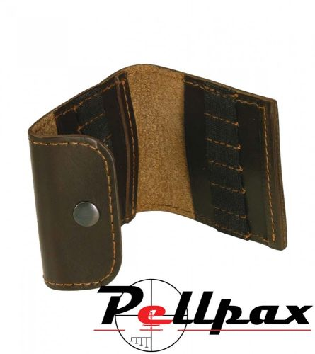 Bisley Leather Cartridge Pouch - Small Calibre Rifle
