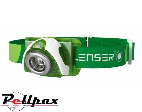 LED Lenser SEO3 Head Torch - Green