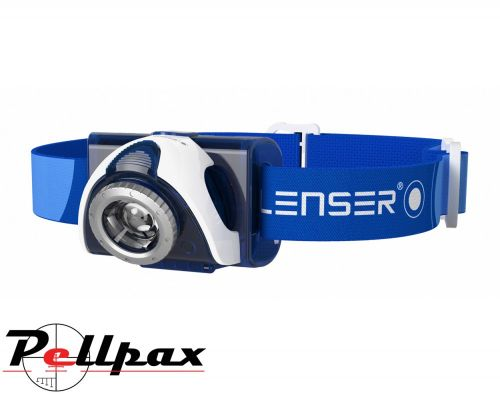LED Lenser SEO7 Blue Rechargeable Head Torch - Blue