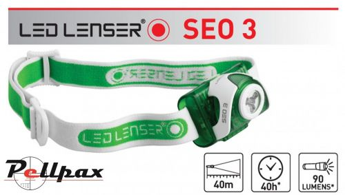 SEO3 Green Head Torch by Led Lenser