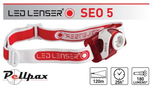 SEO5 Red Head Torch by Led Lenser