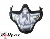 Lower Face Shield Skull-Black