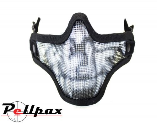 NP Mesh Lower Face Shield Skull Airsoft Masks: Black / Green / Tan