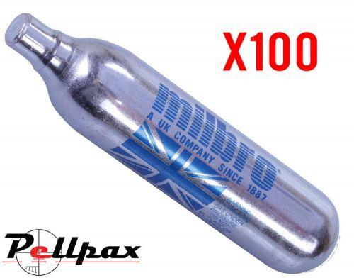Milbro CO2 12g Cartridges  / Capsules x 100
