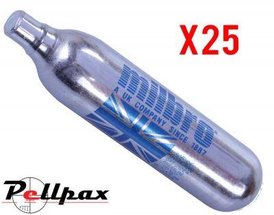 Milbro CO2 12g Cartridges / Capsules x 25