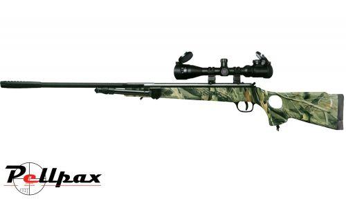 Milbro Hunt Master Camo .22 Pellet Spring Rifle - Second Hand