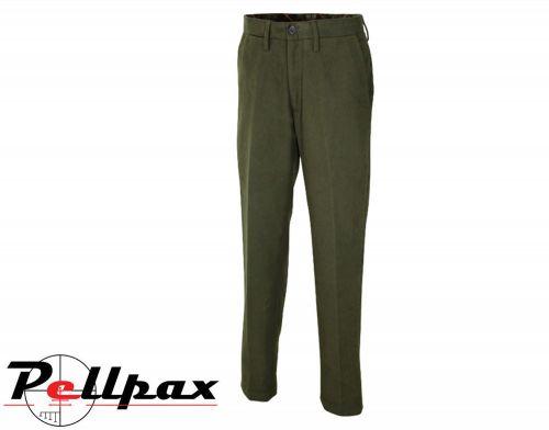 Moleskin Trousers By Jack Pyke in Olive Green