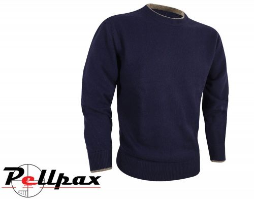 Ashcombe Crewknit Pullover By Jack Pyke in Navy