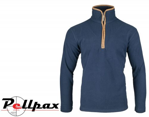 Countryman Fleece Pullover By Jack Pyke in Navy