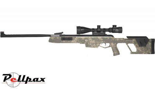 Norica Dead Eye Camo + 3-9x50 scope + pellets + Gunbag- .22 Pellet - Second Hand