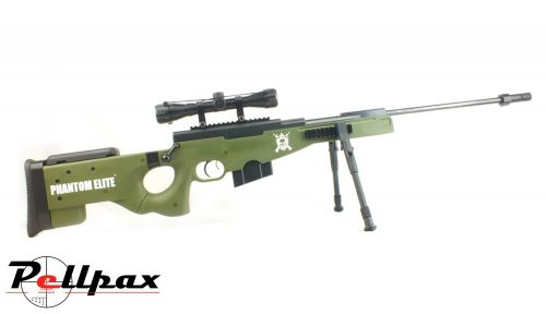 Nova Vista Phantom Elite Olive Drab .177 Pellet Gas Ram Rifle + Bag + Scope (4 x 32) - Second Hand