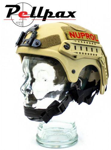 Nuprol NP IBH Railed Airsoft Helmet: Black / Green / Tan / Multi