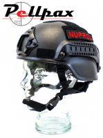 NP Mich 2000 Railed Airsoft Helmet: Black / Green / Tan / Multi