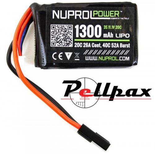 NP Power 1300MAH 11.1v 20c LiPo PEQ Micro